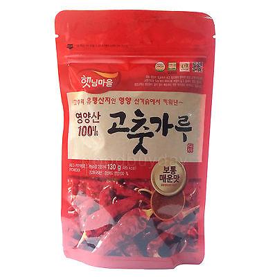 Korean Dried Red Pepper Powder Gochugaru Medium Spicy Hot Food For Kimchi 130g