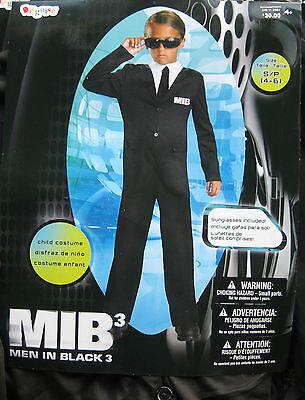 MEN IN BLACK 3 Boy  Costume sz 4-6 NEW - Men In Black Costume