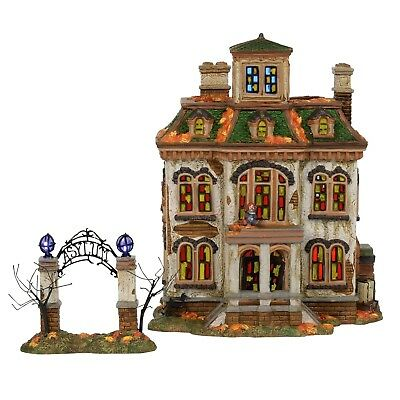 Last Laugh Asylum Dept 56 Snow Village Halloween 6000662 insane haunted house A