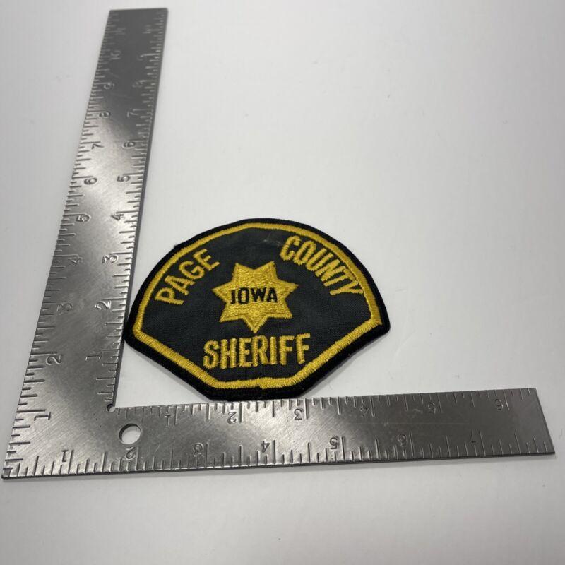 PAGE COUNTY IOWA SHERIFF PATCH