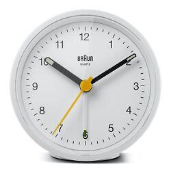 Braun BN-BC12W White Round Quartz Classic Alarm Clock