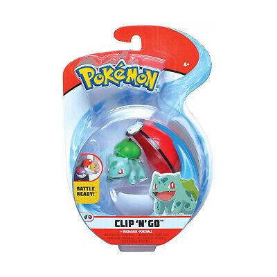 Wicked Cool Toys Pokemon Clip N Go Bulbasaur Set NEW IN STOCK