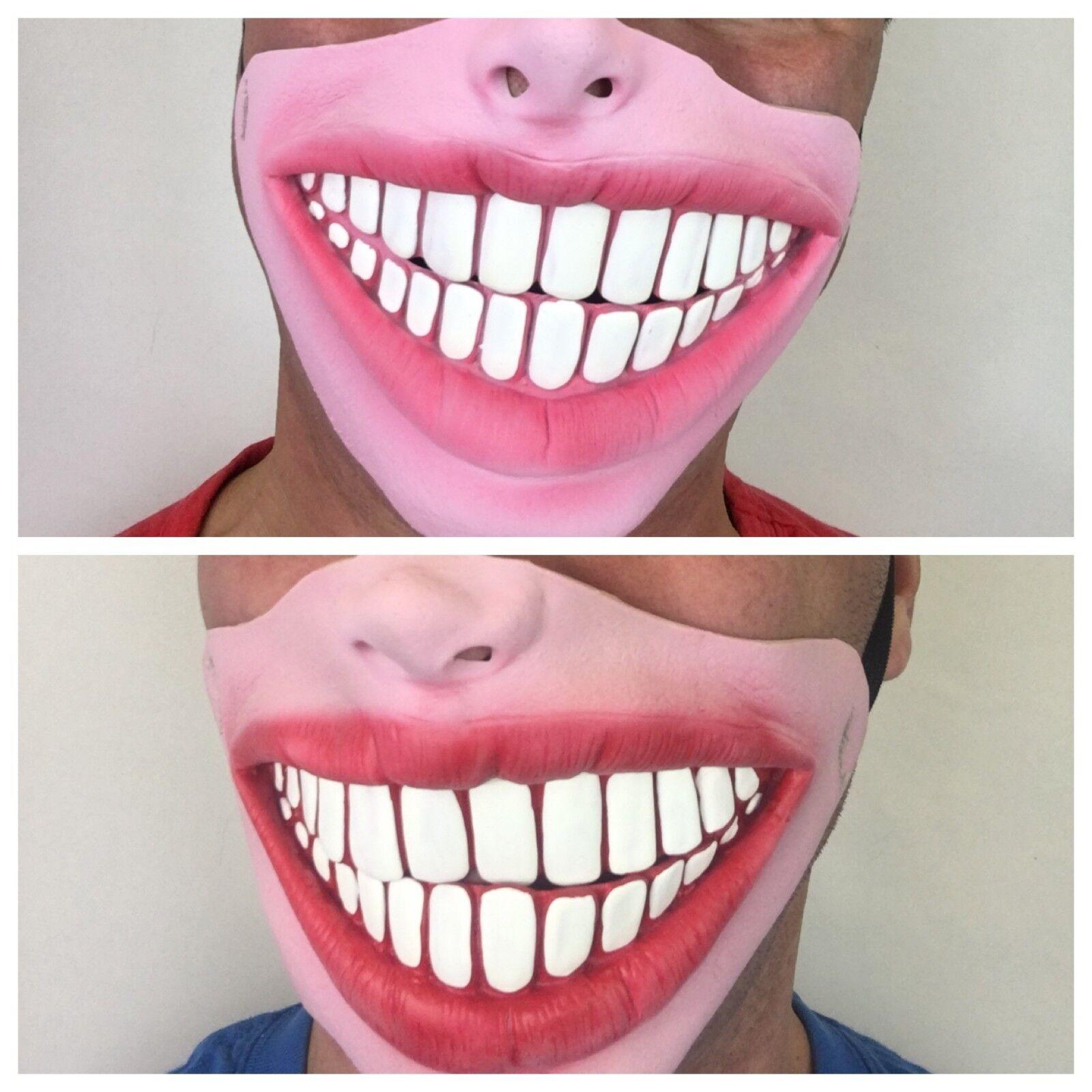 DIVERTIDA Media Cara Grande Dientes Veneers RYLAN Sonrisa Máscara de ...