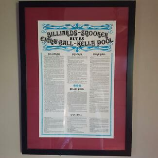 Framed pool and billiards rules