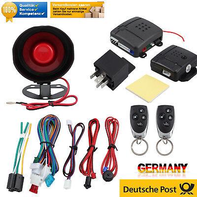 Auto Alarmanlage ZV Funkfernbedienung mit Sirene Klappschlüssel KFZ Sicherheit