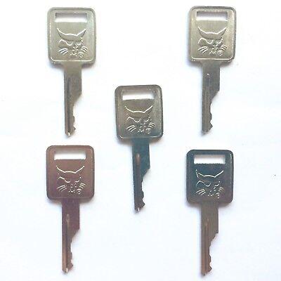 5 Bobcat Skidsteer And Mini Excavator Heavy Equipment Ignition Keys