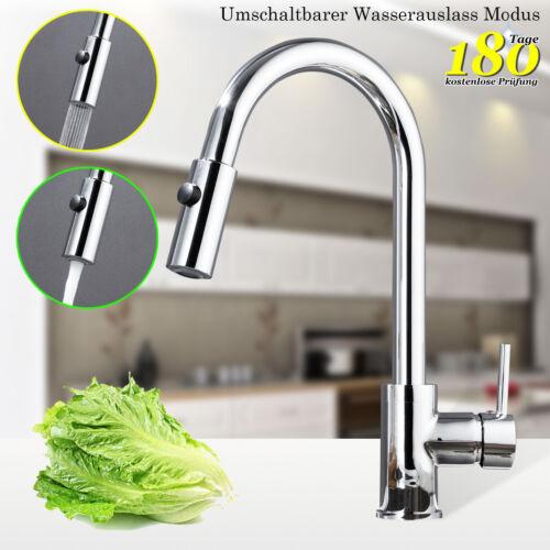 Küchenarmatur Armaturen Wasserhähne Küche Mixer mit Pull Out Brause 360 Rotieren