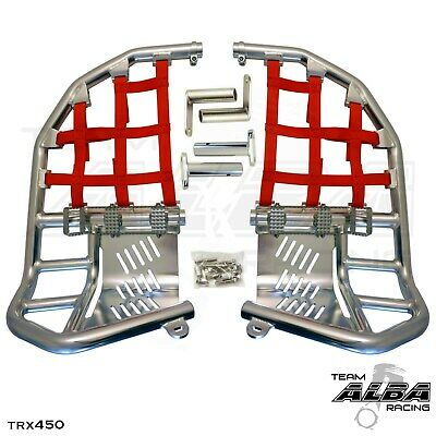 Yamaha Blaster YFS 200  Nerf Bars  Pro Peg  Alba Racing  Silver Red  212 T7 SR