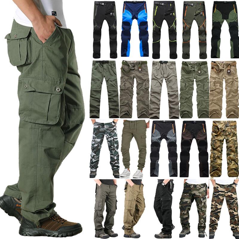 Men Casual Pants Tactical Military Combat Cargo Multi-Pocket