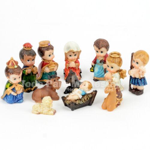 Christmas Nativity Scene Set Baby Jesus Figurines Nacimiento Navidad 12 Piece