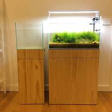 Cube Aquarium Tank with wood cabinet Ringwood Maroondah Area Preview