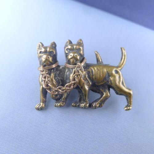 Victorian Boxer Brooch / Dog Pin