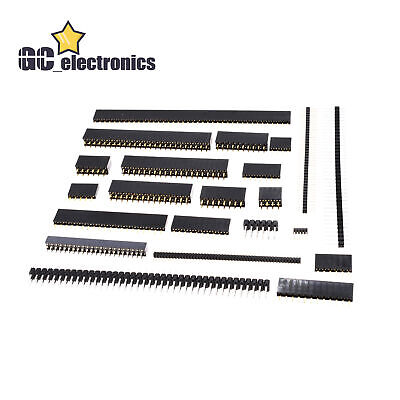 Pin Header Socket Plated 4-50pin 2.54mm Row Straight Malefemale Singledouble