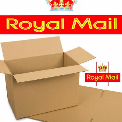 500 NEW DEEP Max Size Royal Mail Small Parcel Postal Boxes 350x250x160mm - 24HRS