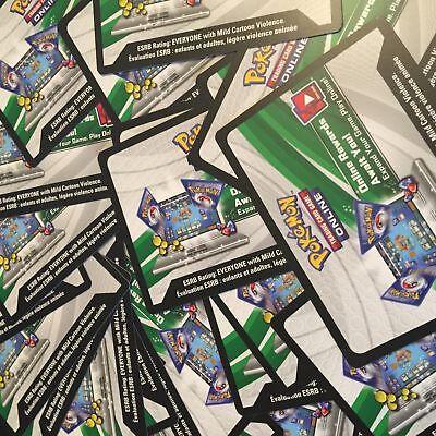 Pokemon TCG ONLINE : VIRTUAL CODE CARD MEGA LOT 100 NEW CODES + EX GX BONUS