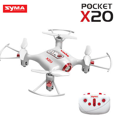 Syma X20 Pocket 2.4G 4CH RC Quadcopter Drone Headless Altitude Hold Mode White