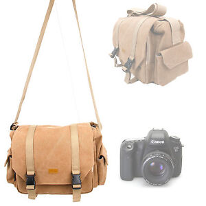sac bandouli re besace camel pour appareil photo canon eos. Black Bedroom Furniture Sets. Home Design Ideas