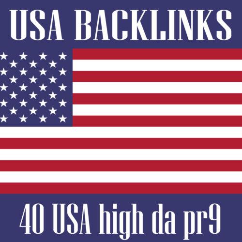 40 USA High Da pr7-9 Backlinks, Safelink Building Service - Seo Service Agency