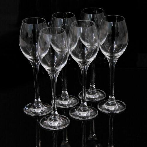 6x Likörglas [ aus bleifreiem Kristallglas ] Schnapsgläser Grappa Gläser Glas