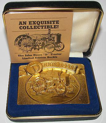 John Deere 1988 Model D Tractor Limited Edition Gold Belt Buckle  sn 1711 / 6000