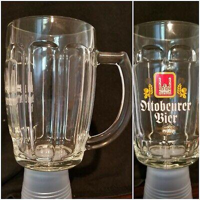 Ottobeurer Bier Glass Large Mug 0.5L German Beer Barrel Stein New  Free (Large Glass Mug)