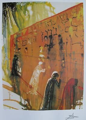 Salvador Dali WAILING WALL Facsimile Signed Limited Edition Art Lithograph