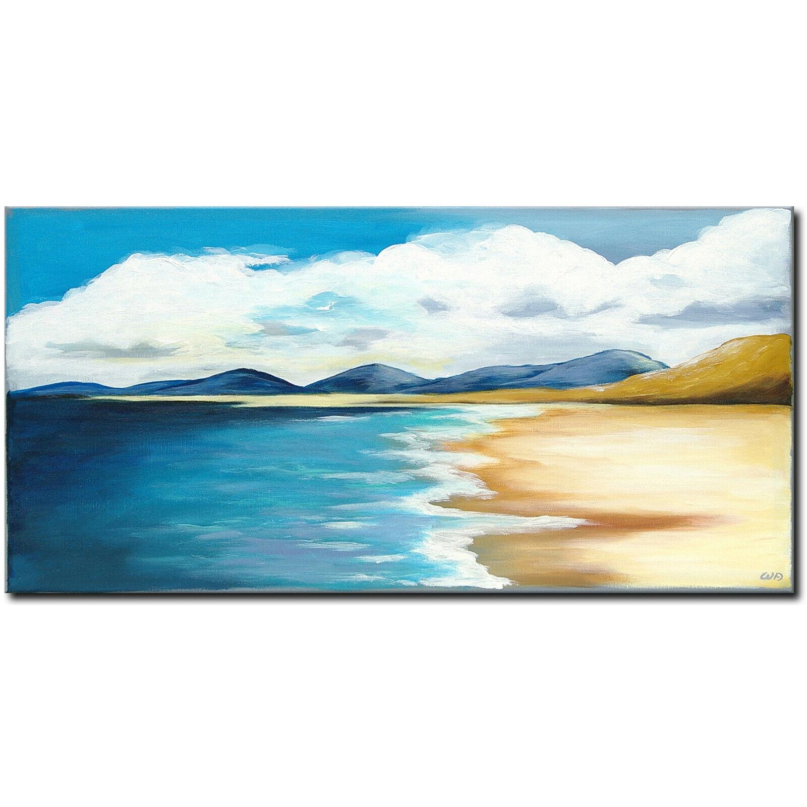NOVAARTE Abstrakte Malerei Kunst Acryl Bild Gemälde Modern ORIGINAL Meer UNIKAT