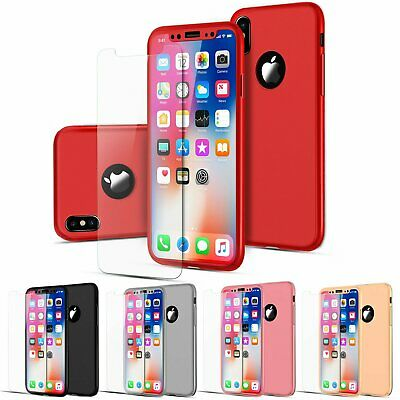 For iPhone X XS Max XR Luxury Ultra thin 9H Hard Tempered Glass Case Back Cover Cases, Covers & Skins