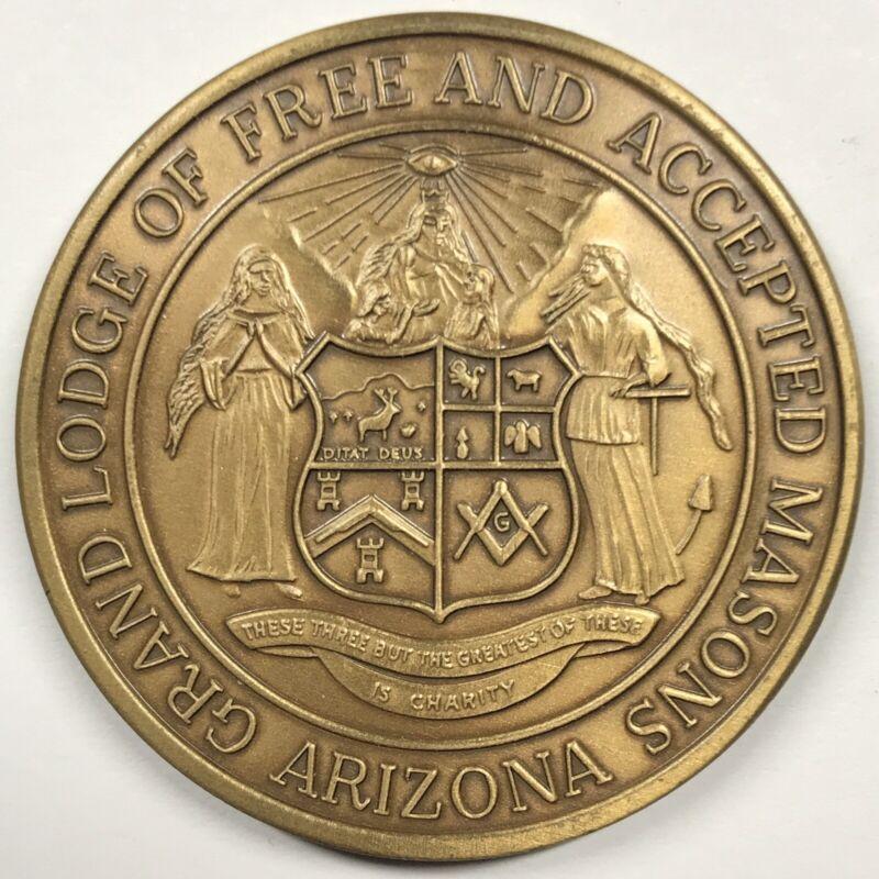 Arizona Grand Lodge of Masons Help Children at Risk - Masonic Medal - 38 mm
