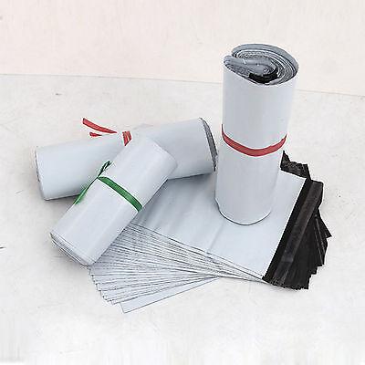 Mailing Postal Poly White Plastic Postage Bags 6 x 9 17x30cm 100 Premium Quality