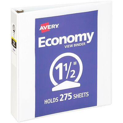 Avery 1.5 Economy View 3 Ring Binder Round Ring Holds 8.5 X 11 Paper 1 ...