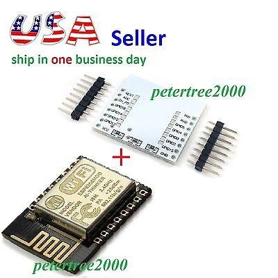 ESP8266 ESP-12E Wireless Remote Serial WiFi Module Transceiver + Adapter Plate