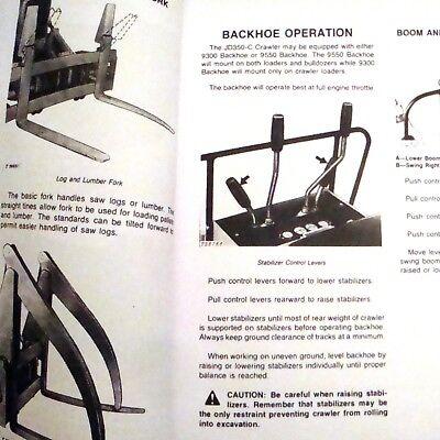 John Deere Jd350-c Crawler Dozer Loader Operators Owners Book Guide Manual