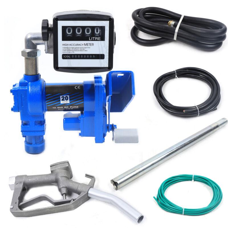 Fuel Transfer Pump Diesel Gasoline Anti-Explosive Oil Meter 12V 265W BEST SELL