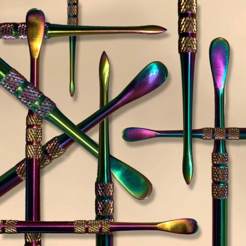 """RAINBOW Stainless Steel Art Wax Carving Tool 4.75"""" Skillet Dab Art by Nail Clay"""