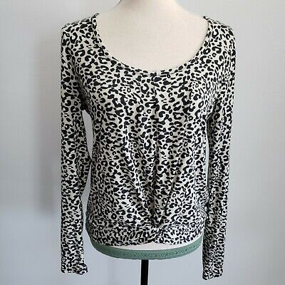 Wantable Animal Print Front Knot Leopard Top Women's Size Small