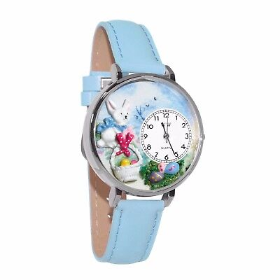 Whimsical Watches Unisex U1220016 Easter Eggs Baby Blue Leather Watch