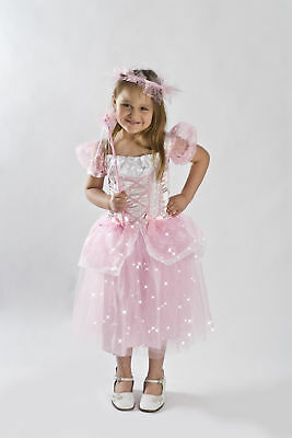 Pink Princess Costume light up Girls kids dress Toddler small Medium 2-4 4-6 6-8](Kids Up Costume)