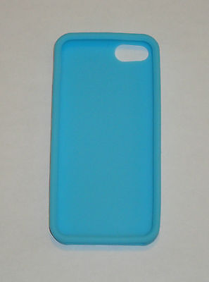 Sky Blue Silicone Soft Skin Case For Apple iPhone 5  Iphone Sky Blue Skin