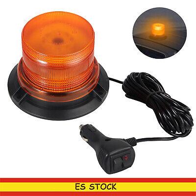 Rotativo Luz Senal de Emergencia Coche Estroboscópica LED Magnética Ámbar E9 24W
