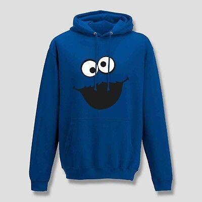 Hoodie Krümelmonster ohne Kekse Karneval Fasching Sesamstraße Kids Men 116 - (Hoodie Monster)