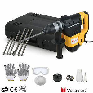 1050W Rotary Demolition Hammer Drill 3 Modes Electric SDS Plus 240V Chisel Chuck