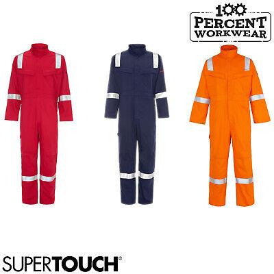 Supertouch Weld Tex Plus Antistatic Welding Flame Retardant Overalls Boiler Suit