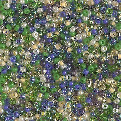 11/0 Wild Iris Mix Miyuki Glass Round Seed Beads 10 Grams