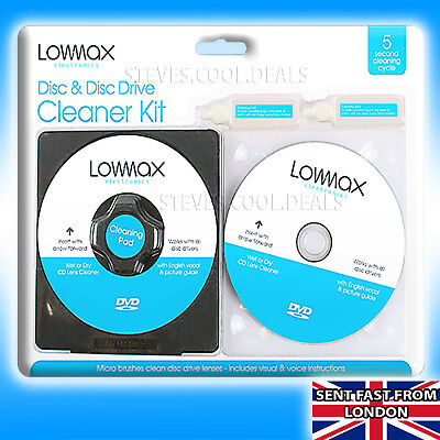 Cd Lens Cleaner (LASER LENS Cleaner Cleaning Kit Fluid PS4 PS3 PS2 XBOX 360 BLU RAY DVD CD DISC)