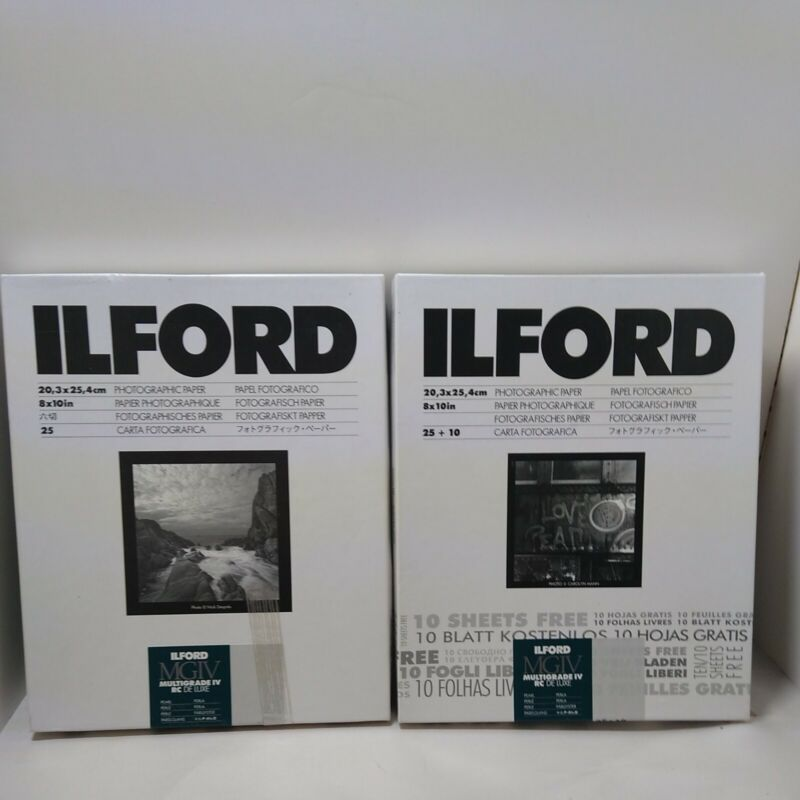 """3 Boxes ~54 Sheets  8x10"""" ILFORD MG4RC44M Multigrade IV - RC Deluxe Pearl Paper"""