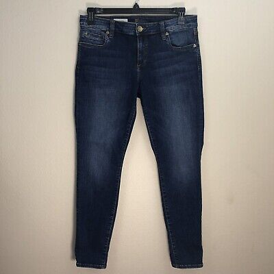 KUT from the Kloth Toothpick Skinny Womens Jeans Size 10S Stretch Whiskers