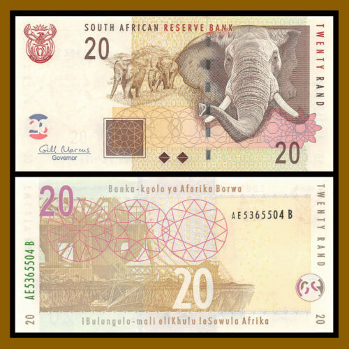 South Africa 20 Rand, 2009 P-129b Unc