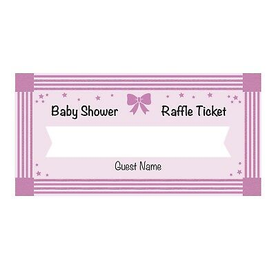 24 Baby Shower Diaper Raffle Ticket Cards - Girl - Baby Shower Diaper Raffle