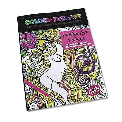 Colour Therapy Anti Stress Colouring Book Enchanted Fairies (64 Pages)